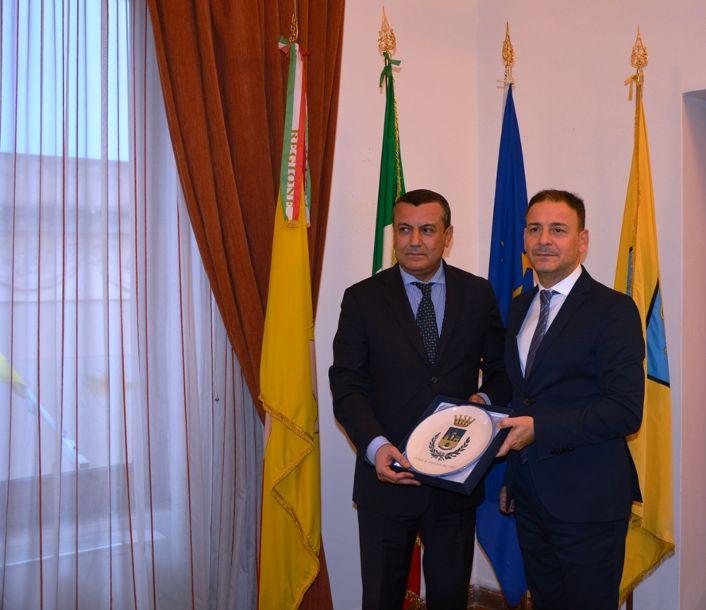Mazara, il Console generale di Tunisia a Palermo in visita al Palazzo di Città