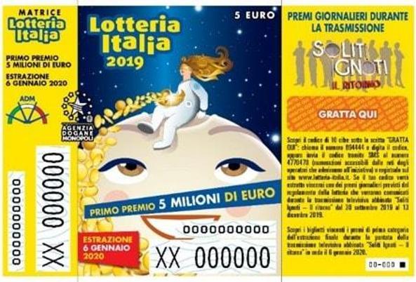 LOTTERIA ITALIA, ESTRAZIONE 6 GENNAIO 2020, TUTTI I BIGLIETTI VINCENTI...