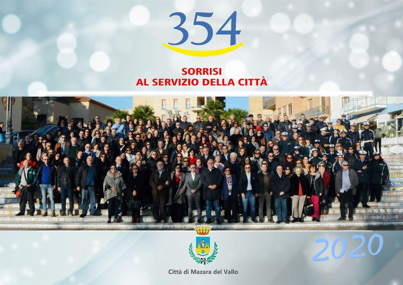 354 sorrisi al servizio della Città. Il calendario 2020 dei dipendenti del Comune di Mazara