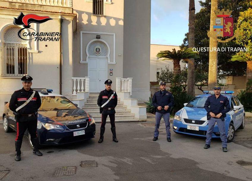 Marsala. OPERAZIONE CONGIUNTA DI CARABINIERI E POLIZIA. IN CINQUE IN MANETTE PER FURTO