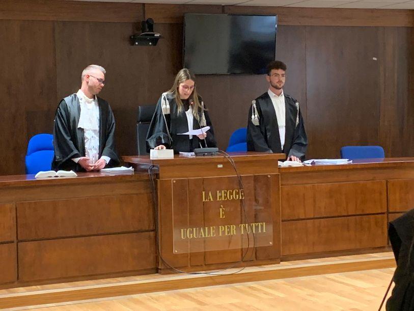 """Mazara. Studenti della classe VB dell'I.I.S. """"Ruggiero d'Altavilla"""" hanno partecipato all'iniziativa """"Processo Simulato"""""""