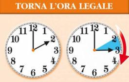 Questa notte torna l'ora legale. Le lancette dell'orologio dovranno esseretirate avanti di 60 minuti