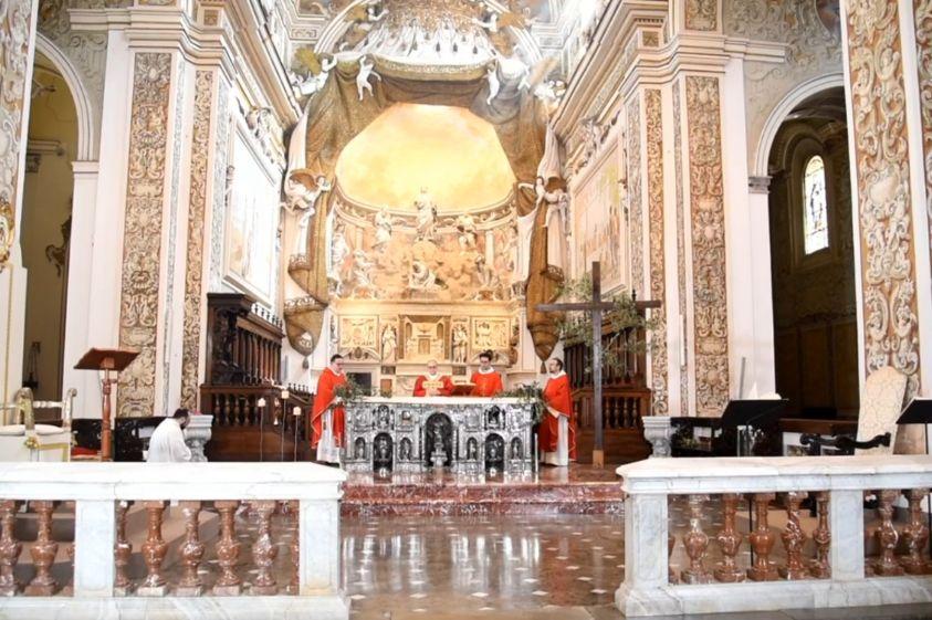 Dalla Cattedrale di Mazara, la Santa messa nella Domenica delle Palme, presieduta dal Vescovo