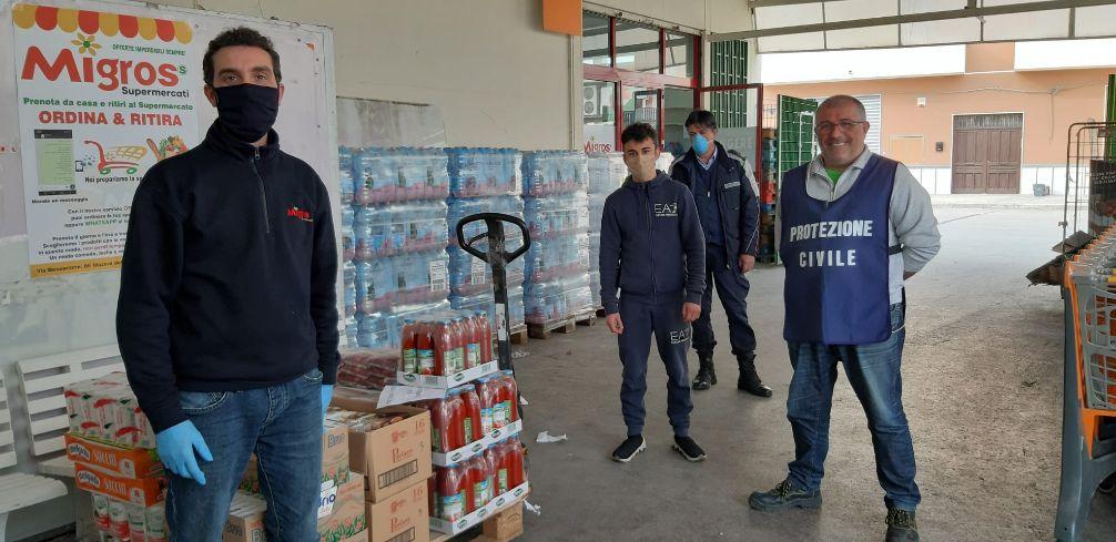 Mazara. Il Supermercato Migros dona beni alimentari di prima necessità per le famiglie bisognose