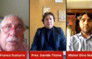Mazara calcio. Campionato fermo! In video conferenza il presidente Titone, il dott. Scaturro e mister Marino