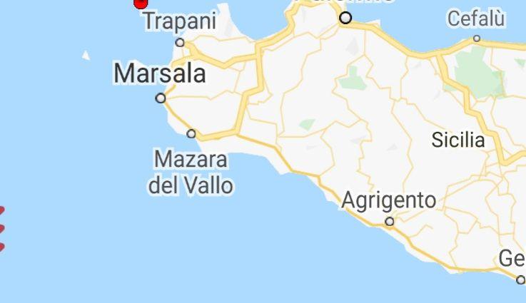 Leggera scossa di terremoto davanti la costa trapanese