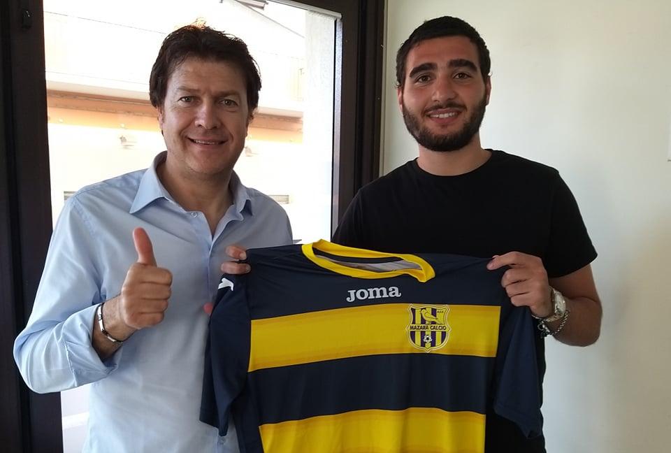 Mazara Calcio: Il difensore Gaspare Paladino riconfermato in gialloblu