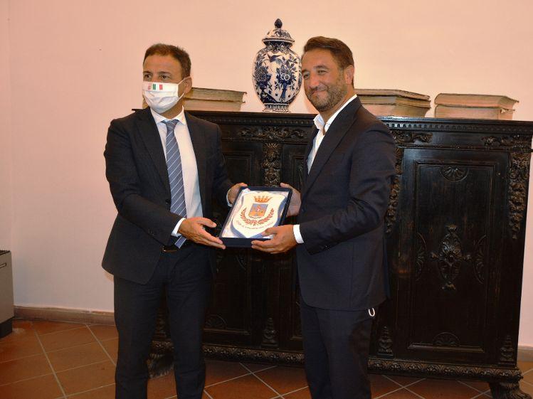 Mazara. Visita del Vice Ministro Cancelleri.Tavolo tecnico con il Sindaco Quinci