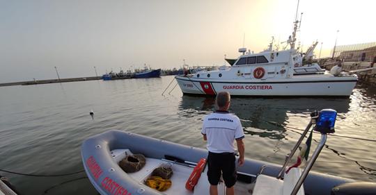 """Mazara. Continuano i controlli della Capitaneria di porto per l'operazione """"Mare Sicuro 2020"""""""
