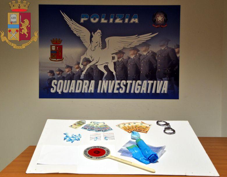 Mazara. La Polizia di Stato arresta un mazarese per detenzione ai fini di spaccio di cocaina