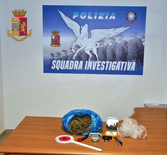 Mazara. La Polizia di Stato arresta un mazarese, sottoposto a libertà vigilata, per detenzione ai fini di spaccio di marijuana