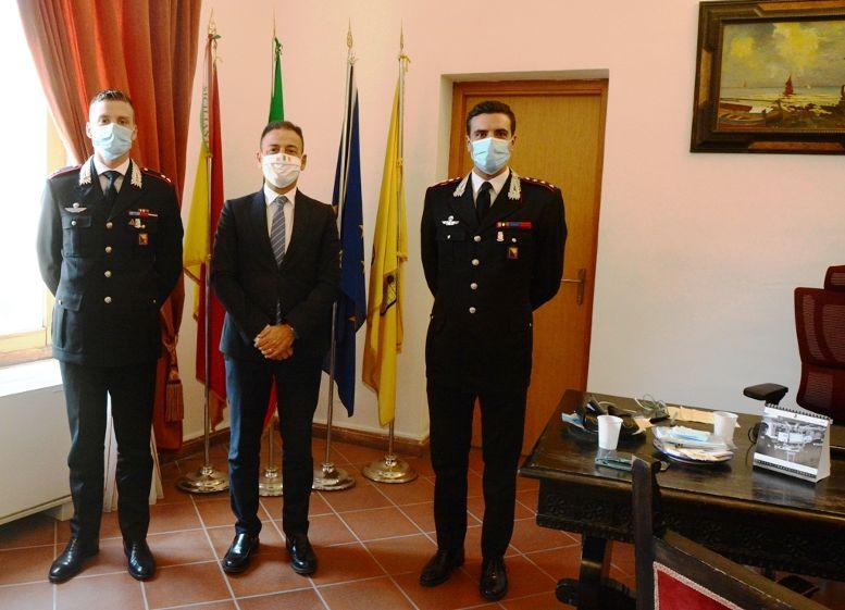 Il Sindaco incontra i nuovi comandanti della Compagnia Carabinieri e del Norm Mazara