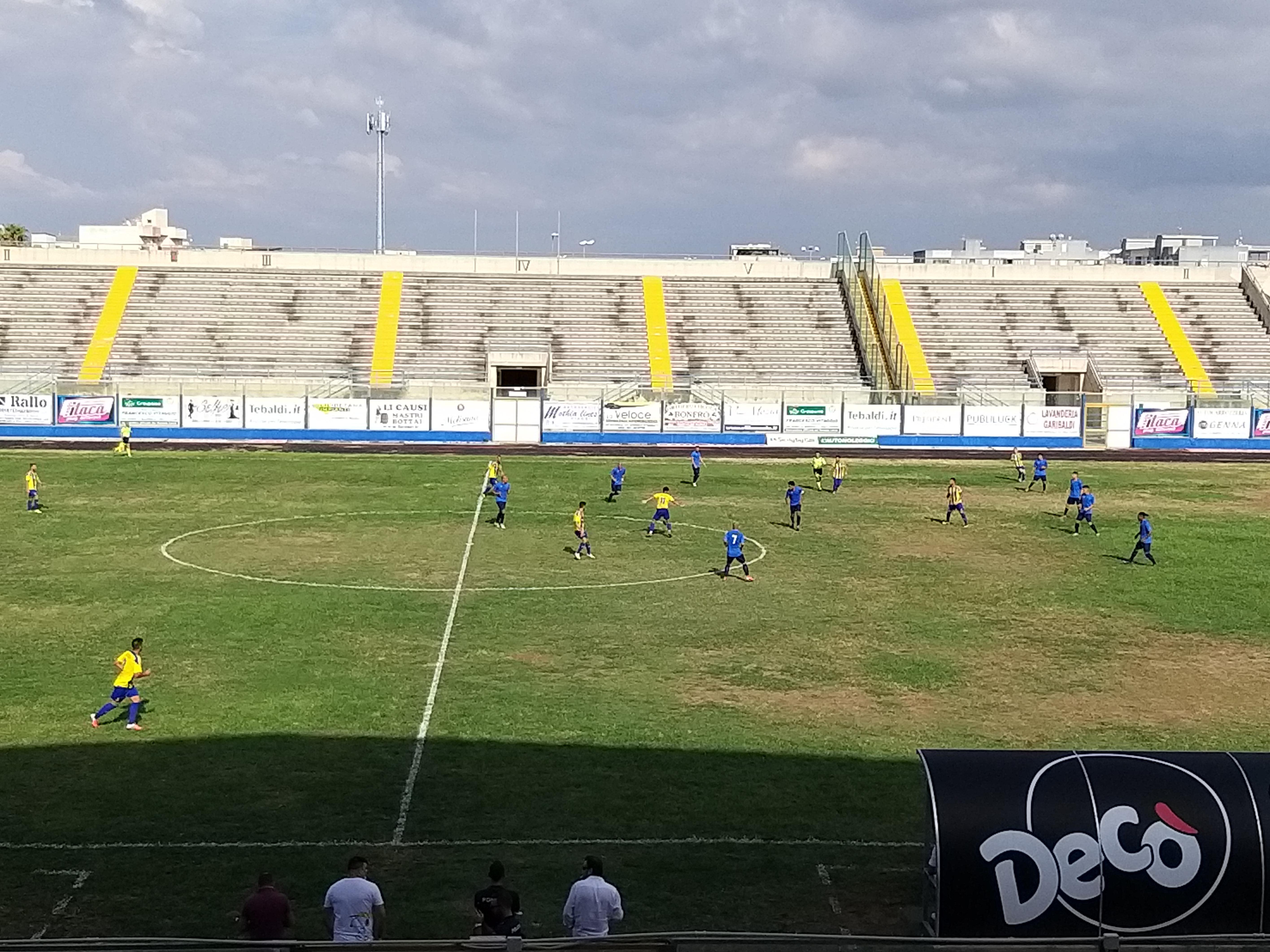 Coppa Italia gara di andata: MARSALA - MAZARA 0-3 i canarini vincono e ipotecano il passaggio del turno
