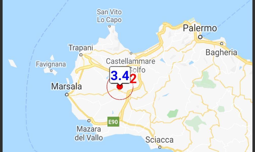 Scossa di terremoto di magnitudo 3.4 in provincia di Trapani