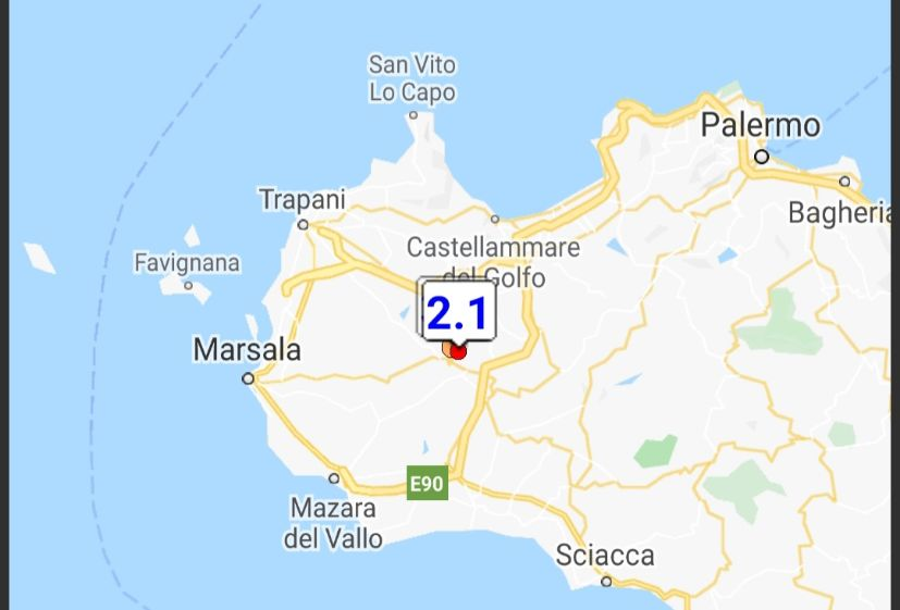 Altra scossa di terremoto nell'area sismica di Salemi