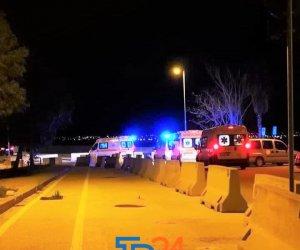 Marsala. Coda di ambulanze che trasportano pazienti Covid in ospedale