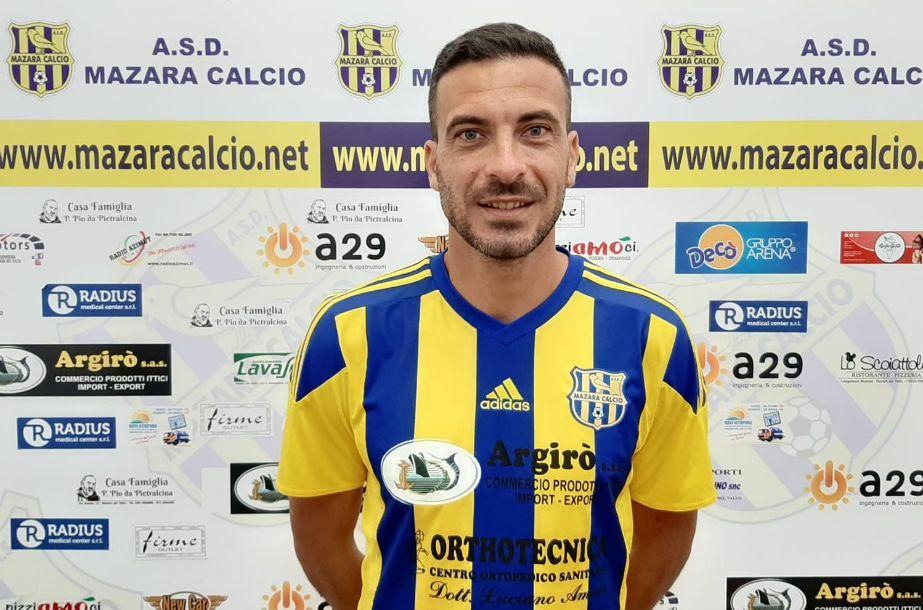 Mazara calcio: Torna in gialloblù il difensore centrale Vincenzo Lombardo