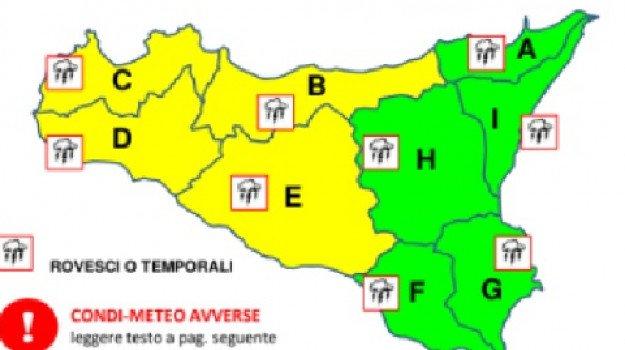 Maltempo, in arrivo pioggia e vento: allerta gialla in alcune province siciliane
