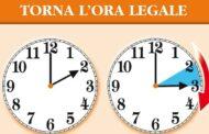 Ora legale: lancette avanti nella notte tra sabato e domenica