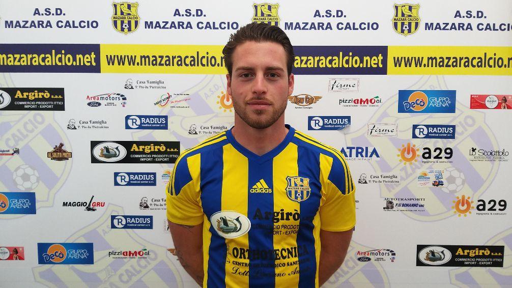 Mazara calcio: L'attaccante Simone Guaiana è gialloblù