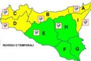 Maltempo in Sicilia, allerta gialla per domenica in gran parte delle province