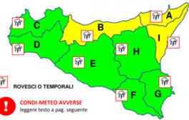 Maltempo con temporali in Sicilia, allerta gialla a Nord-Est dell'Isola