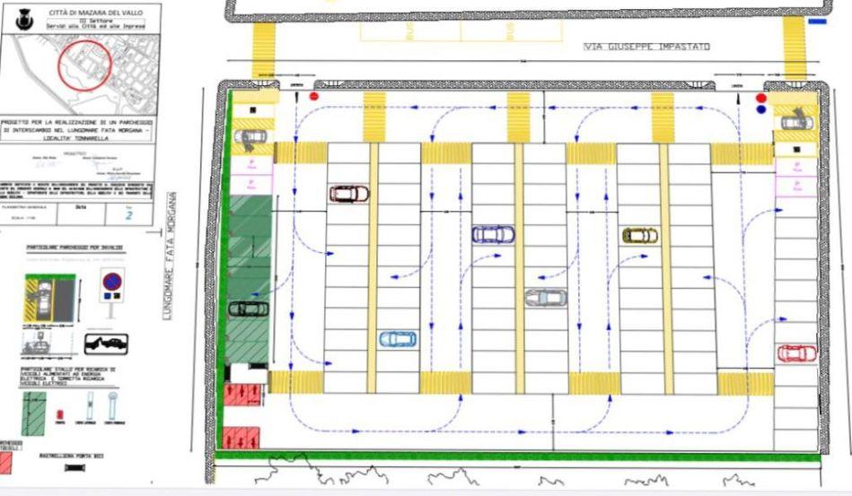 Mazara. Al via la realizzazione del nuovo parcheggio d'interscambio a Tonnarella. Sorgerà con 100 posti auto nel lungomare Fata Morgana